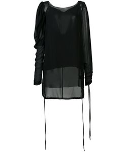 Vera Wang | Sheer Puff Sleeve Blouse Womens Size 4 Silk