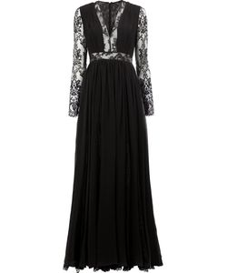 Zuhair Murad | Lace Insert Gown Womens Size 42 Silk/Polyamide