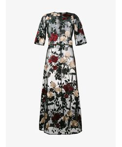 Ganni | Simmons Embroide Tulle Dress Womens Size 42 Polyester/Polyamide