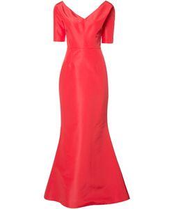 Carolina Herrera   Faille Gown Womens Size 10 Silk