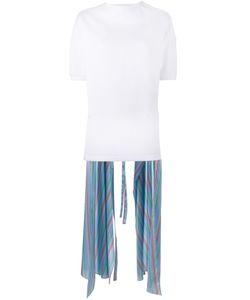Esteban Cortazar | Stripe Asymmetric Top Womens Size 42 Silk/Cotton/Polyamide