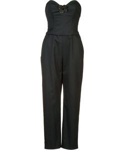 Carolina Herrera   Applique Jumpsuit Womens Size 10 Virgin Wool