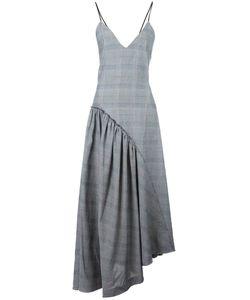 Cédric Charlier | Draped Asymmetric Dress Womens Size 40 Polyester/Cotton/Rayon