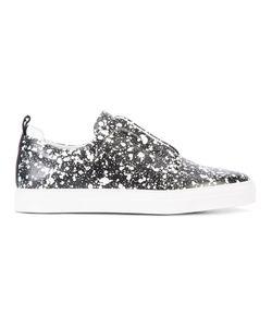 Pierre Hardy | Splatter Print Slip-On Sneakers Mens Size 42 Leather/Rubber