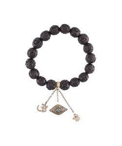 Loree Rodkin | Carved Beaded Diamond Charm Bracelet