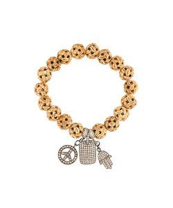 Loree Rodkin | Carved Wood Diamond Charm Bracelet