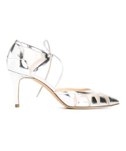 Bionda Castana | Geometric Panel Tie Pumps