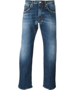 +People | Frayed Hem Straight Jeans
