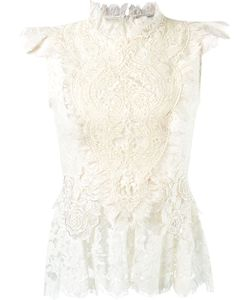Martha Medeiros | Ruffled Lace Blouse