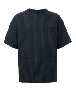 Dressedundressed | Back Zip Pinstripe T-Shirt