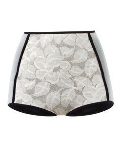 Emannuelle Junqueira   Panelled Lace Hot Pants
