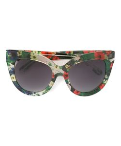 Linda Farrow Gallery   Floral Cat Eye Sunglasses