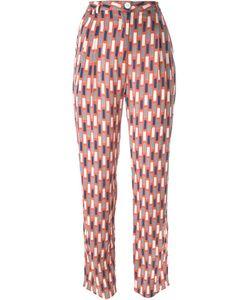 Minimarket | Luxor Pattern Tapered High Waist Trousers