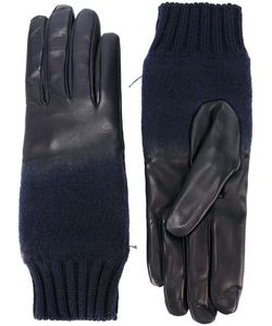 Gala | Leather Merging Into The Wool Cuff Gloves