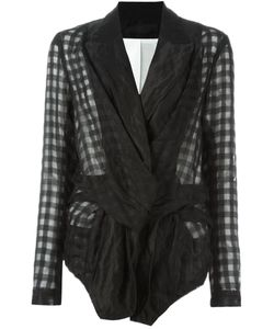 Marc Le Bihan | Deconstructed Checked Blazer