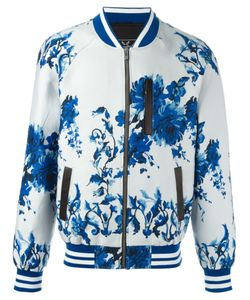Unconditional | Floral Print Bomber Jacket