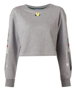 Minjukim | Embroidered Cropped Sweatshirt