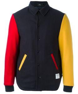 Ejxiii | Contrast Sleeve Varsity Jacket