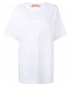 No21   Oversize Logo T-Shirt Womens Cotton