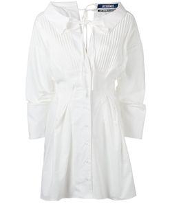 Jacquemus   Pleat-Front Shirt Dress Womens Size 38 Cotton