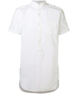 Lardini | High Frayed Neck Shirt Mens Size Large Cotton