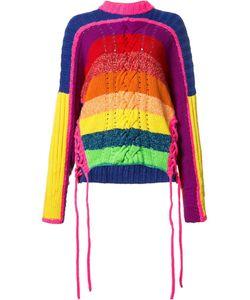 Spencer Vladimir | Rainbow Jumper Womens Size Xs/S Cotton/Cashmere/Wool