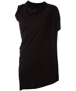 Rick Owens Lilies | Asymmetric Draped T-Shirt Womens Size 44 Viscose/Polyamide/Cotton
