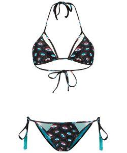 Brigitte | Printed Triangle Bikini Set Womens Size P Polyamide/Spandex/Elastane