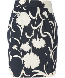 Moschino Vintage | Floral Print Pencil Skirt
