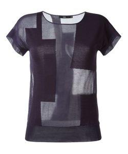 Stills | Sheer Colour Block Knit Top