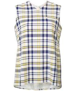 Adam Lippes | Woven Plaid Tank Womens Size 0 Cotton