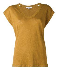 Iro | V Neck Top Womens Size Medium Linen/Flax