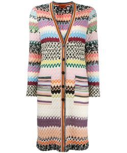 Missoni | Long Knitted Cardigan Womens Size 44 Viscose/Wool