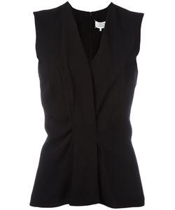 Maison Margiela | Pinched Detail Vest Womens Size 44 Silk/Polyamide/Spandex/Elastane/Viscose
