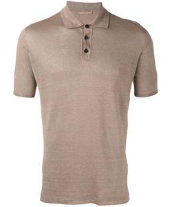Roberto Collina | Knit Polo Shirt Mens Size 48 Linen/Flax