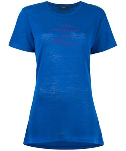 Diesel | T-Sully Long Embroide T-Shirt Womens Size Large Lyocell/Linen/Flax