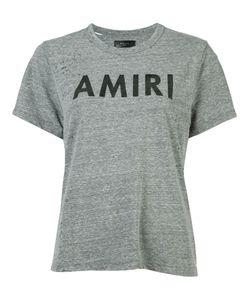 Amiri | Logo Print Destroyed T-Shirt Womens Size Large Polyester/Cotton/Rayon