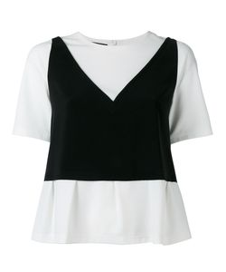Boutique Moschino | Two-In-One Top Womens Size 42 Polyester/Other Fibers