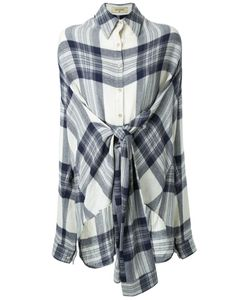 Fad Three | Checked Front Knot Shirt
