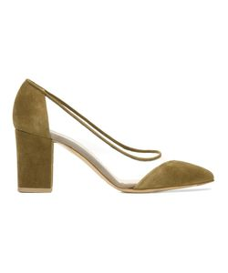 Bionda Castana | Diagonal Mesh Panel Pumps