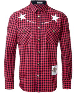 Education From Youngmachines | Stars Print Checked Shirt
