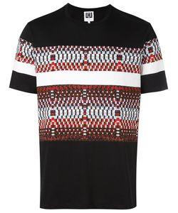 Les Hommes Urban   Mixed Print T-Shirt