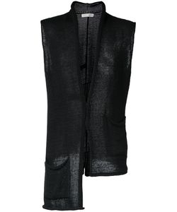 Isabel Benenato | Asymmetric Knitted Gilet Mens Size Small Cotton