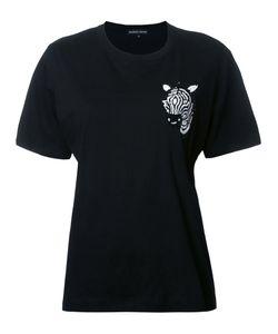 Markus Lupfer | Sequin Zebra T-Shirt Womens Size Small Cotton