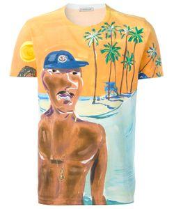 Moncler | Painted Beach Scene T-Shirt Mens Size Medium Cotton