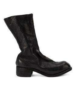 Guidi | Block Heel Boots Womens Size 40 Horse Leather/Leather/Rubber