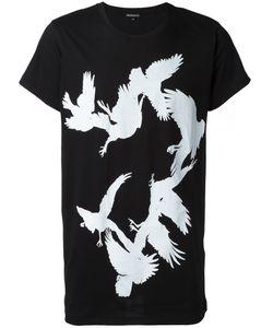 Ann Demeulemeester Blanche   Bird Print T-Shirt Mens Size Small Cotton