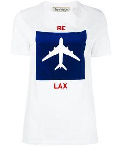 Être Cécile | Aeroplane Print T-Shirt Womens Size Medium Cotton