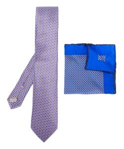 Canali | Dotted Pocket Square And Tie Set Mens Silk