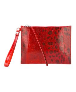 Rick Owens   Printed Clutch Bag Adult Unisex Leather